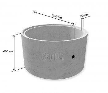 Бетонное кольцо КС 10.6 с замком